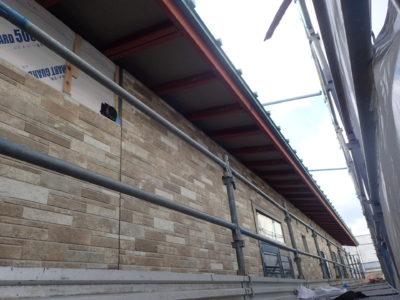 F保育園新築工事(外壁仕上げ)